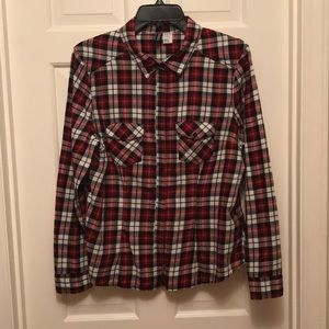 Divided Plaid Top